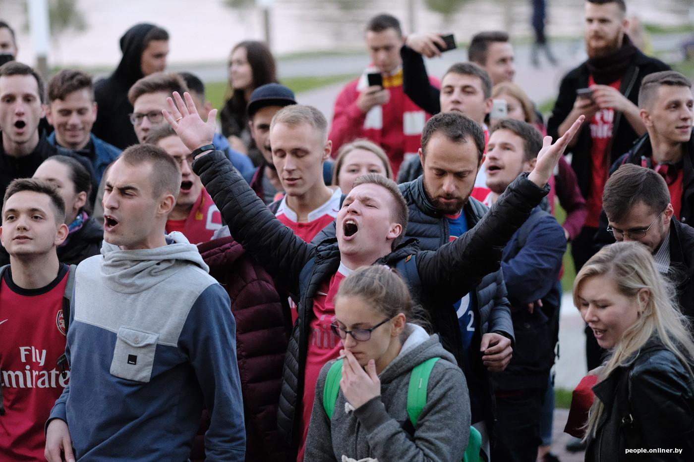 Дом фанатов лондонского арсенала в ьеларуси