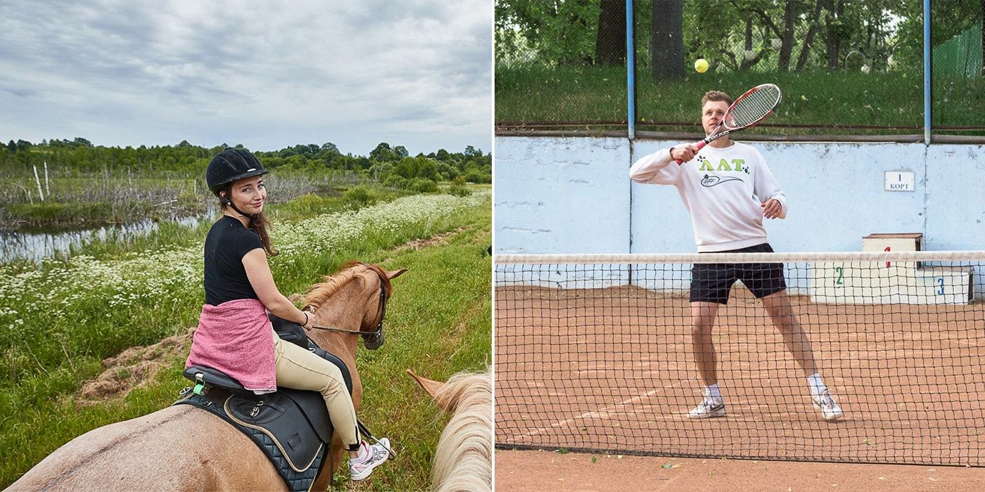 Верхом на Плотве и большой теннис. Как отдыхают герои статей Onliner.by (40 фото)