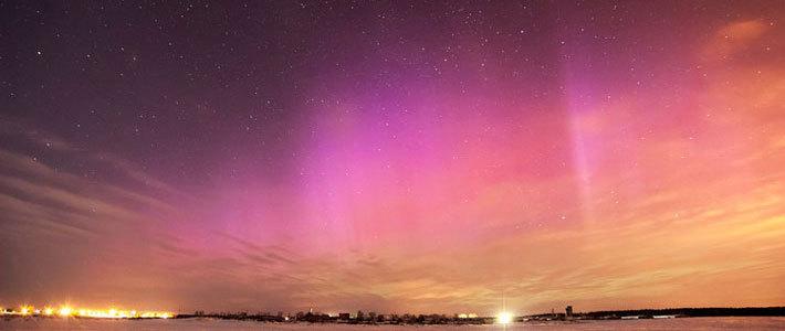 Опубликованы фото полярного сияния в Беларуси