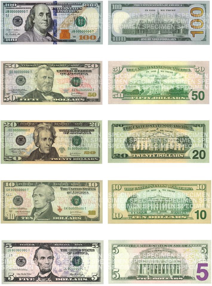 ФРС США: новая стодолларовая купюра поступит в оборот 8 октября ...