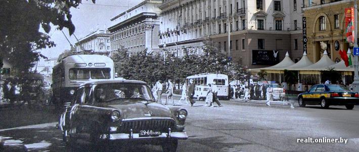 Было — стало: центральные улицы Минска от середины XX века до наших дней
