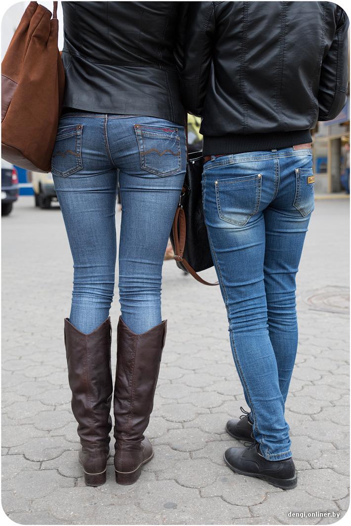 Ебать попа в джинсах у девушке короткие порно ролики