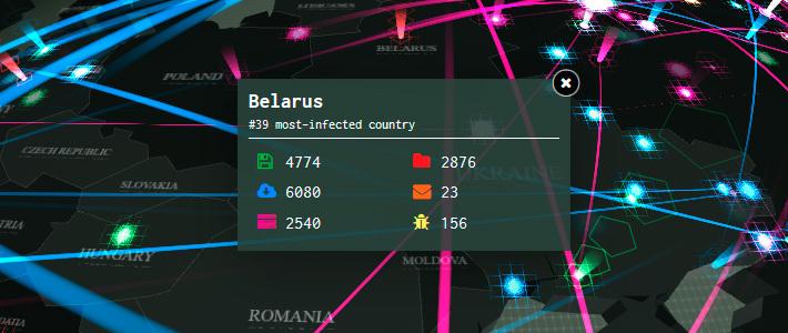 В интернете появилась интерактивная карта киберугроз