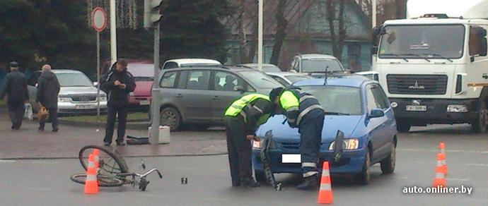 В Гродно сбили велосипедиста, ранее 5 раз оштрафованного за нарушения ПДД
