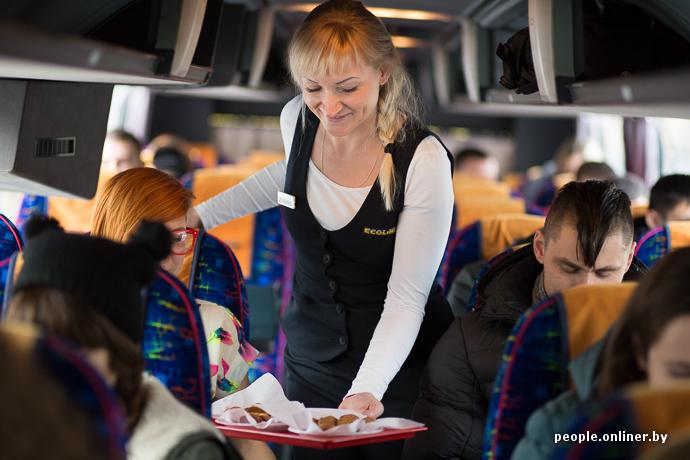 люди чувствовали стюардессы в автобусе видео