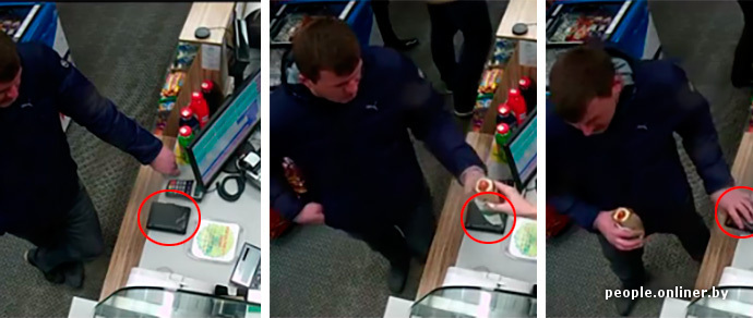 Видеофакт: мужчина пришел на заправку А-100 за хот-догом, а ушел с чужим кошельком, в котором было 36 миллионов