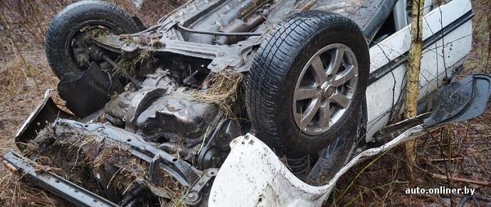 Volkswagen Jetta опрокинулся в кювет. Водитель с места ДТП сбежал