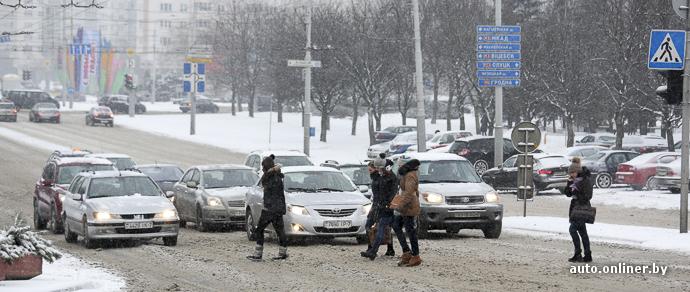 Зима в Минске: оттепель, видимость 500 метров и гололедица. На завтра объявлен оранжевый уровень опасности