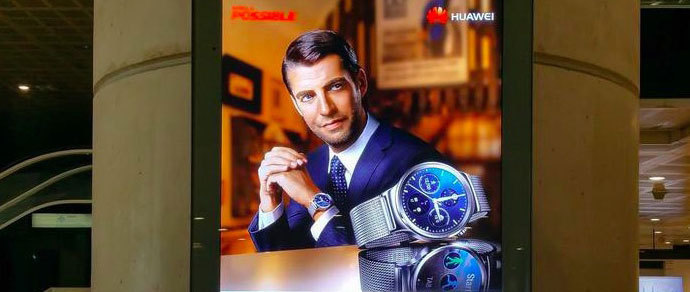Умные люксовые часы Huawei «засветились» в рекламе