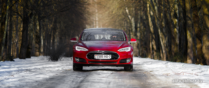 Tesla Model S: зимняя эксплуатация