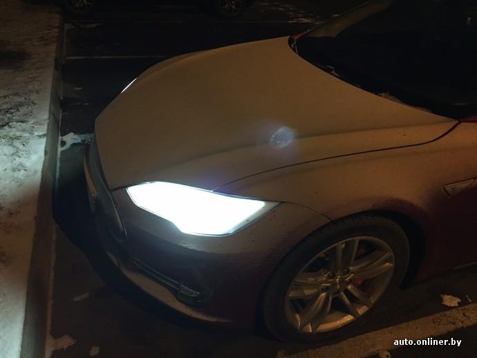 автомобиль тесла в барнауле зимой
