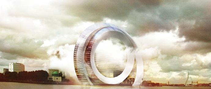 В Голландии построят жилой дом в виде футуристической ветряной мельницы