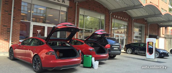 Tesla: первые 20 тысяч километров и ТО в Стокгольме. Добраться до Швеции — от розетки к розетке