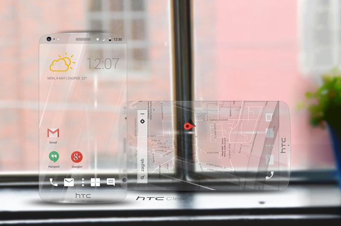 Компания HTC планирует выпустить так званый прозрачный смартфон