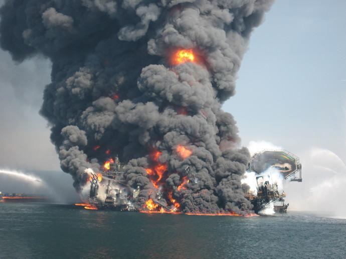 нефтяной платформе,