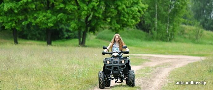 Бездорожье, квадроцикл, девушка: испытываем белорусский «внедорожник» с китайским характером