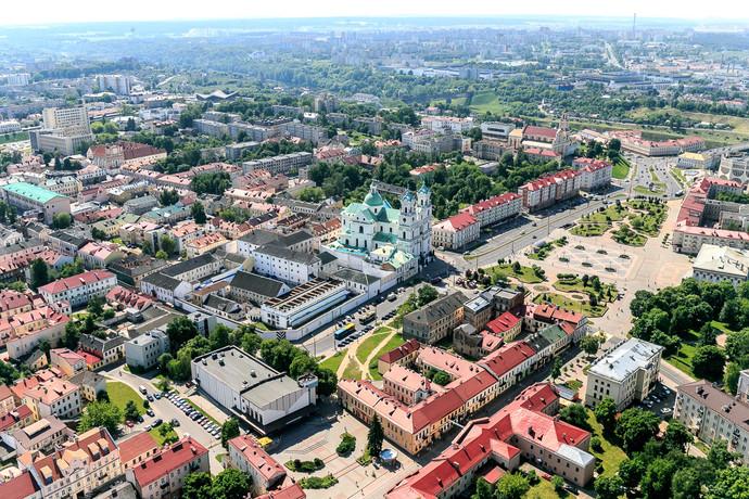 Гродно с высоты птичьего полета: известный фотограф Беларуси Сергей Плыткевич сделал снимки исторического центра города