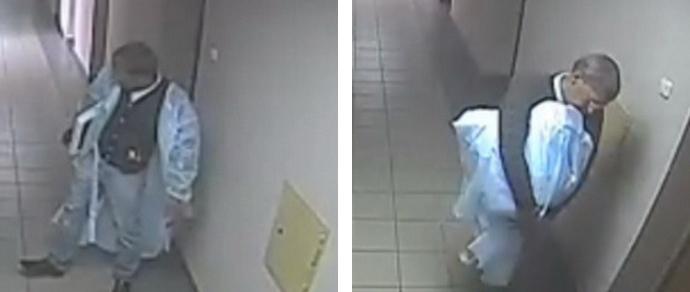 Чтобы похитить монитор из медцентра, вор переоделся в белый халат