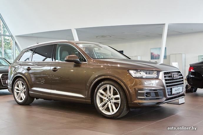 Несмотря на то что в шоу-рум новый Audi Q7 поставили лишь сегодня,  автомобиль уже купили порядка десяти белорусов. Люди заказывали кроссовер,  даже не видя ... 0713217817e
