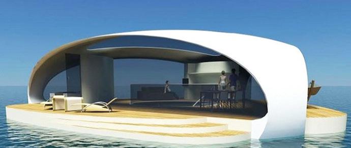 Дом для любителей нестандартного отдыха с комфортом: концепт плавающей виллы
