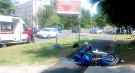 В Барановичах погиб мотоциклист, столкнувшись с попутным Volkswagen Golf