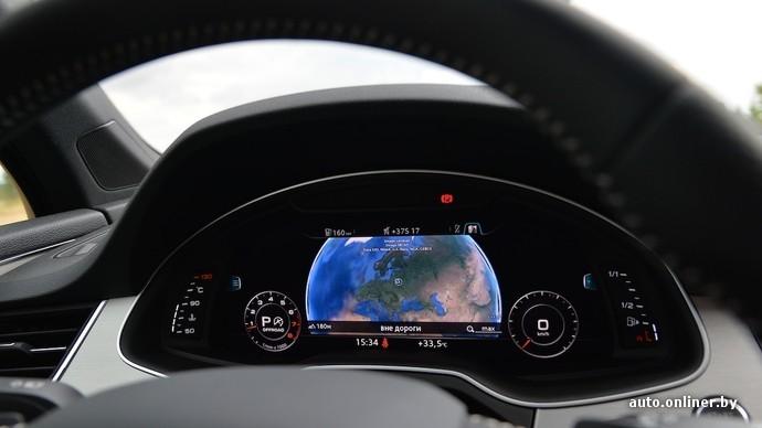 Про ЖК-экран приборной панели (760 евро) можно написать отдельную статью. Спидометр и тахометр по команде водителя уступят центральное место навигации или другой функции машины. Пиксель увидишь только с лупой