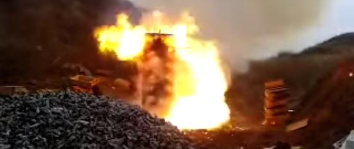 Видеофакт: взрывоопасный «попкорн» из 2000 патронов