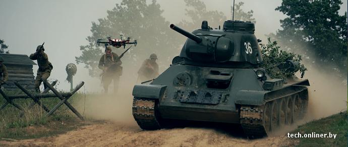 Съемки танкового сражения в формате 360: как это происходит