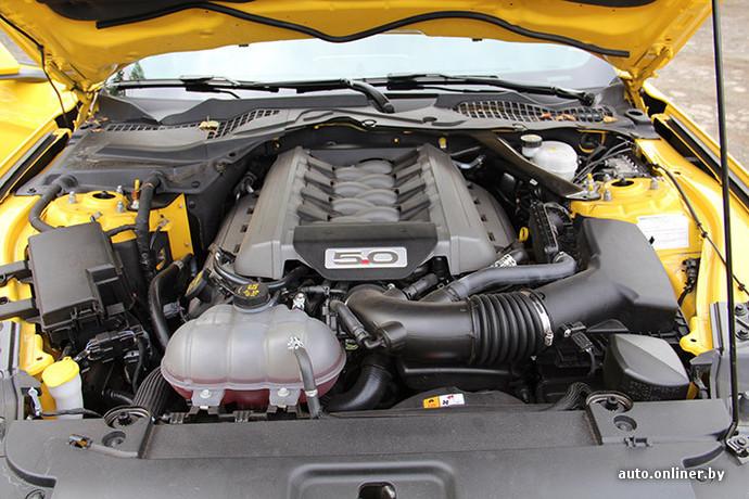 Ford Mustang GT оснащается 5-литровым атмосферным V8 (418 л. с. и 524 Нм)