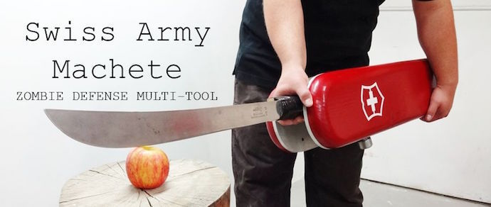 Фотофакт: энтузиаст собрал «швейцарский» армейский мачете для борьбы с зомби