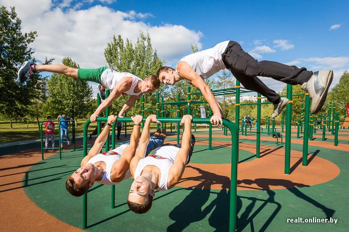 plateforme pour le sport de rue Street Workout à Minsk, photos realt.onliner.by