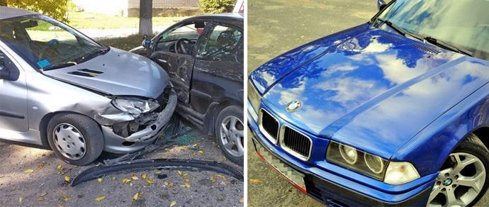 Несостоявшиеся дрифтеры на BMW разбили три автомобиля и скрылись. Теперь их ищет милиция
