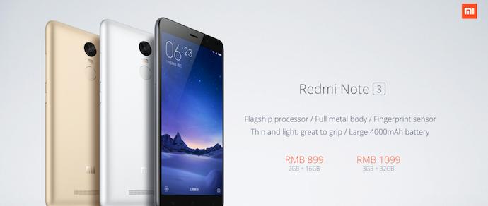 Xiaomi представила Redmi Note 3 — «уберсмартфон» за $140