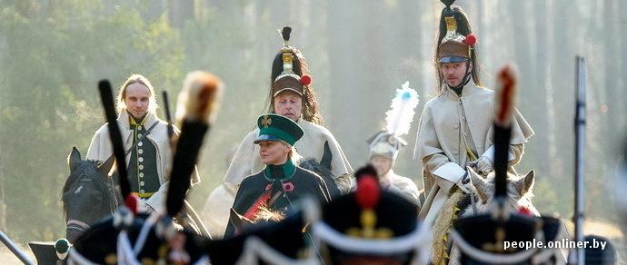 Фоторепортаж: военно-исторические клубы воспроизвели отступление Наполеона к Березине
