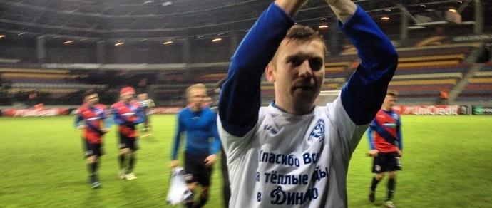 Футболист минского «Динамо» хотел попрощаться с болельщиками, но был удален с поля. Красивого жеста не получилось