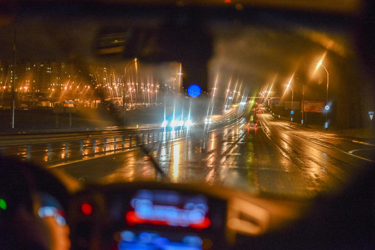 фото ночной дождливой москвы за рулем эти
