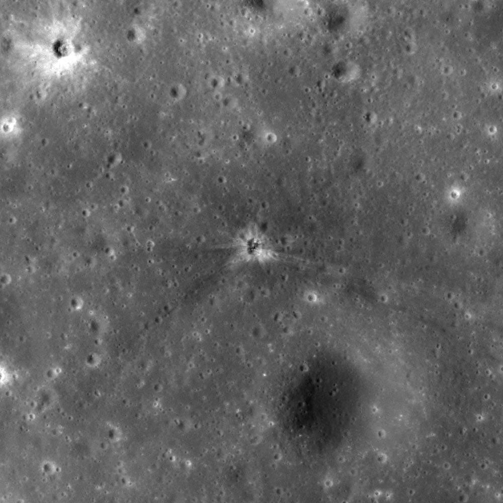 На Луне нашли след от ракетного ускорителя миссии «Аполлон-16»