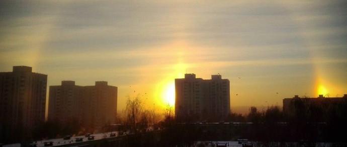 Фотофакт: над белорусскими городами наблюдали гало