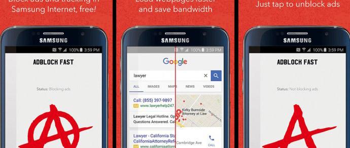 Google запретила блокировать рекламу в Android-браузере Samsung