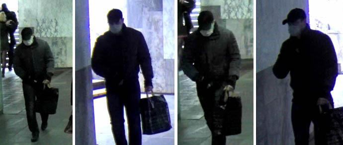 Неизвестный в медицинской повязке пытался ограбить банк на площади Победы. Мужчину ищет милиция