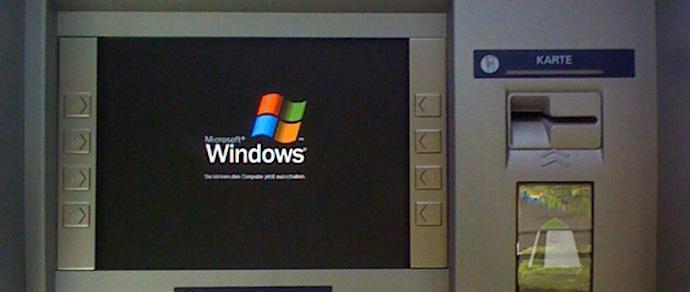 Microsoft призывает банки заменить Windows XP в банкоматах