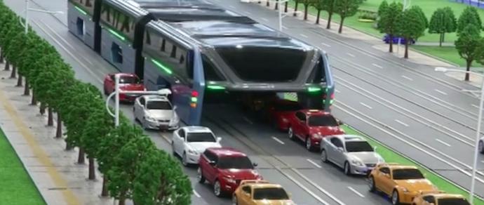 В Китае показали модель городского автобуса, под которым будут ездить авто