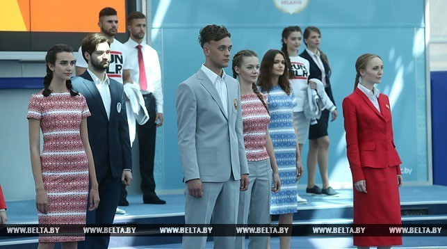 ВМинске показали одежду спортсменов для Олимпиады— Сборная вформе