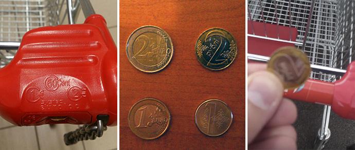 Видеофакт: в гипермаркете Вильнюса минчанин вместо евро использовал белорусские монеты