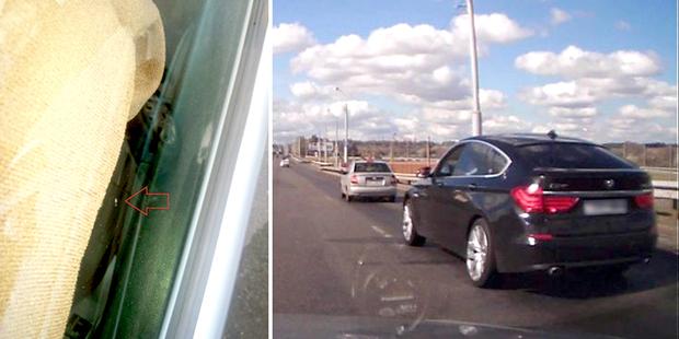 Владелец BMW извинился перед другим водителем за брошенный в его автомобиль предмет