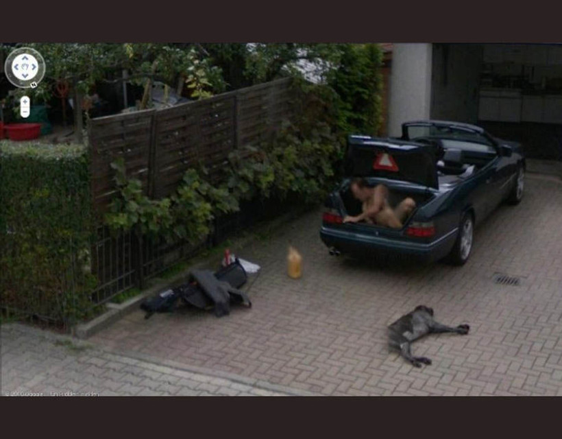 Naked people on google street