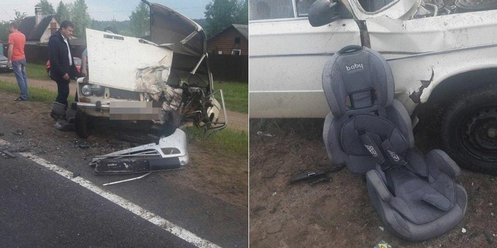 В лобовом погиб водитель «Жигулей», его ребенка спасло автокресло