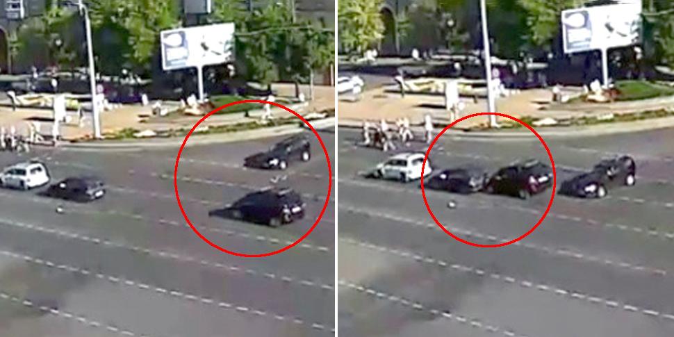 В Бресте водитель едва избежал одного ДТП, но совершил другое