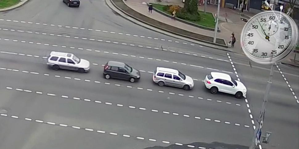 Как собираются «паровозы». Наглядное пособие на примере перекрёстка бульвар-Машерова