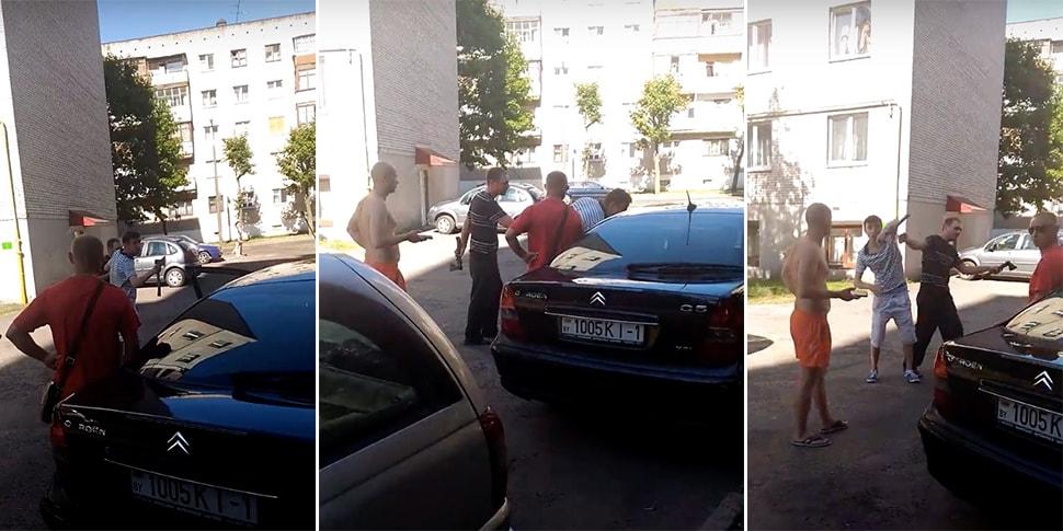 В Бресте среди бела дня двое с топорами охотились за человеком, пострадал очевидец